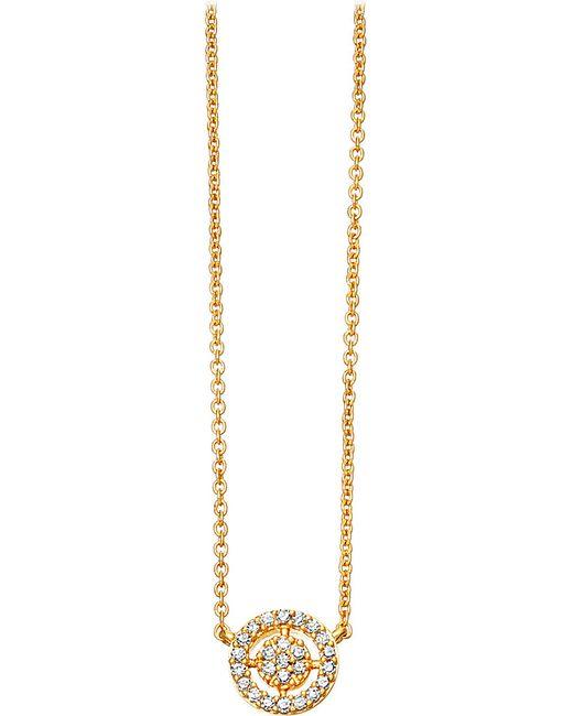 Astley Clarke | Metallic Mini Icon Aura 14ct Yellow-gold And Diamond Pendant Necklace | Lyst