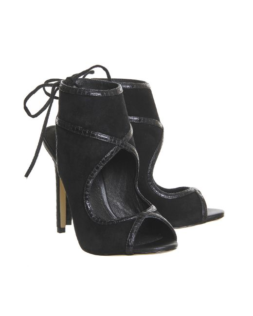 office archie cut out shoe boots in black lyst
