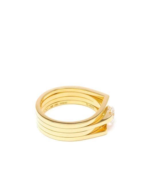 Repossi | Metallic 18k Yellow Gold & Diamond Antifer Ring | Lyst