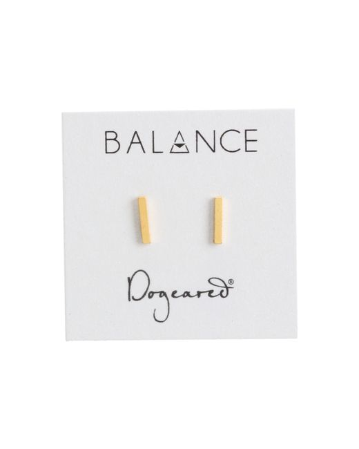 Dogeared   Metallic Balance Flat Bar Stud Earrings   Lyst