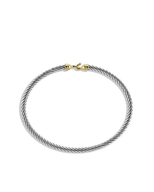 David Yurman | Metallic Cable Buckle Bracelet With Gold | Lyst