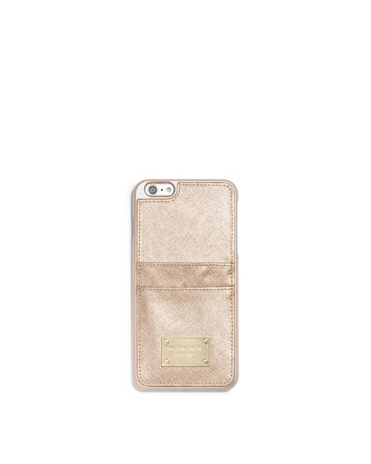 Michael Kors | Metallic Leather Phone Case For Iphone 6 Plus/6s Plus | Lyst