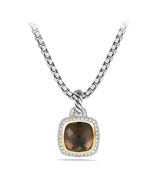 David Yurman | Metallic Albion Pendant With Smoky Quartz, Diamonds And 18k Gold, 11mm | Lyst