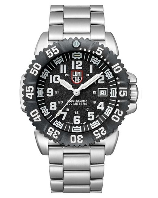 Luminox | Metallic 'sea - Steel Colormark' Bracelet Watch for Men | Lyst