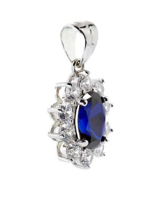 Carat* | Multicolor 2ct Fancy Oval Sapphire Pendant | Lyst