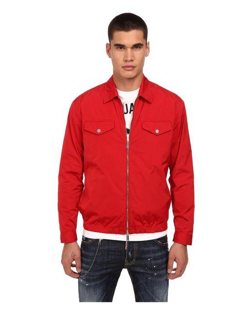 Red Nylon Windbreaker 15