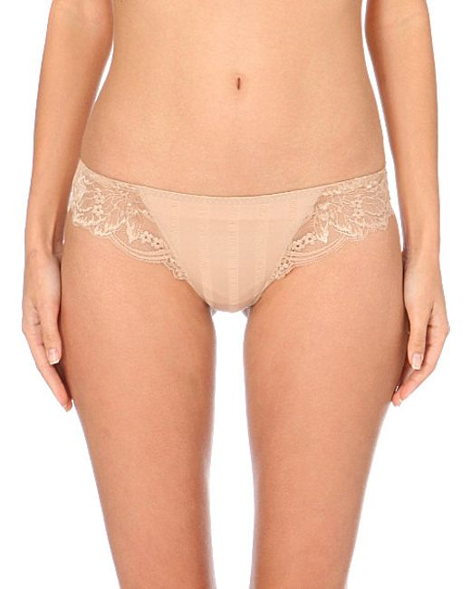 Simone Perele | Natural Amour Jersey And Stretch-lace Tanga Briefs | Lyst