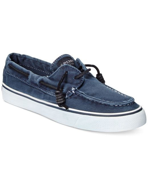 sperry top sider s bahama canvas boat shoes in blue