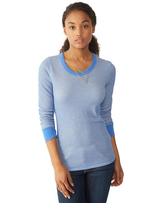 Alternative Apparel | Blue Cozy Thermal Top | Lyst