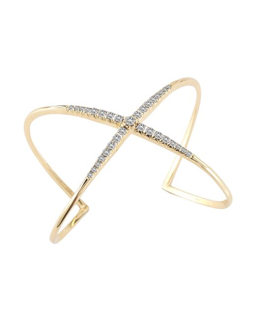 Elizabeth and James | Metallic Windrose Pave White Topaz Cuff | Lyst