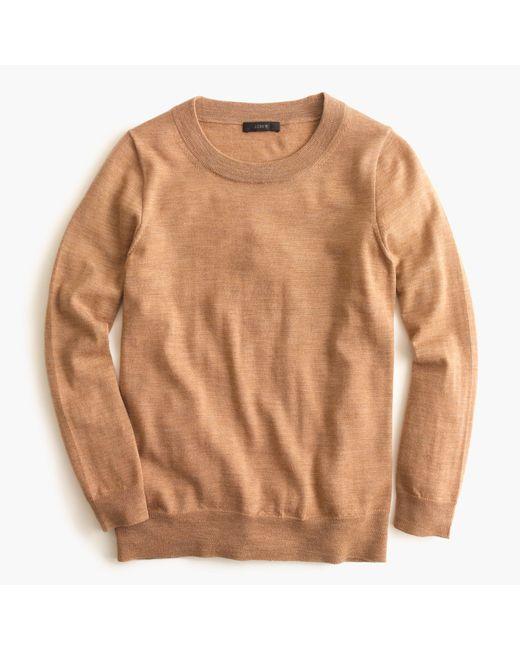 J.Crew | Brown Petite Tippi Sweater | Lyst