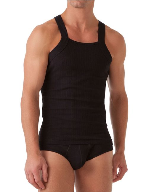 2xist | Black Ribbed Square-cut Tank for Men | Lyst