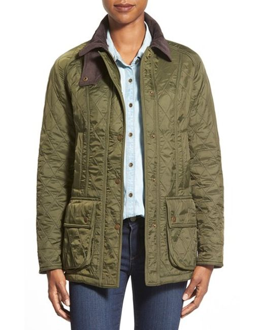 Barbour | Green 'beadnell' Quilted Jacket | Lyst