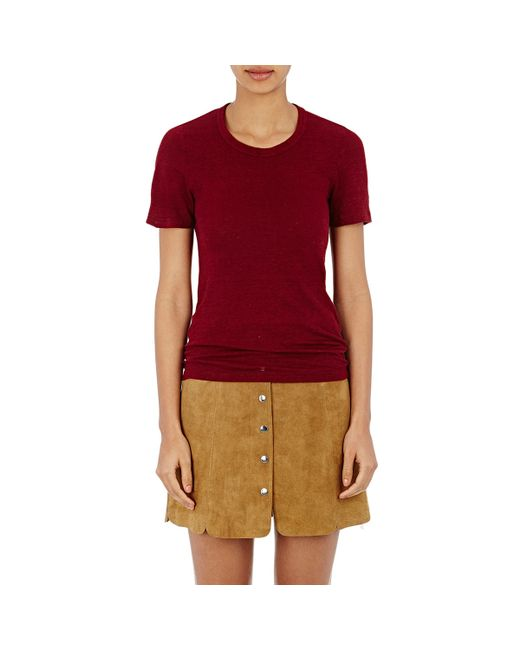 Toile isabel marant kiliann t shirt in red burgundy lyst for Isabel marant t shirt sale