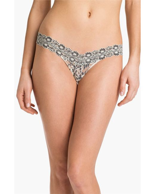 Hanky Panky   White Cross Dyed Low Rise Thong   Lyst