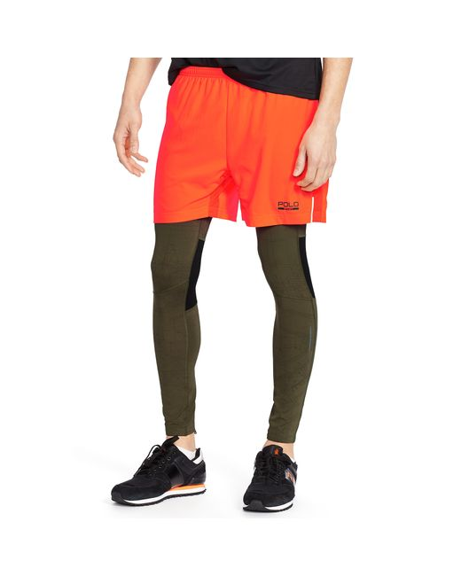 Pink pony Quick-wick Running Tights in Khaki for Men ...