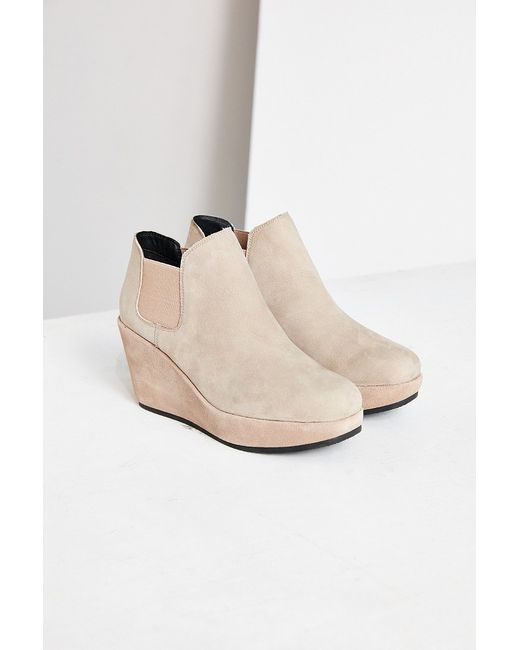 kelsi dagger thea wedge ankle boot in brown