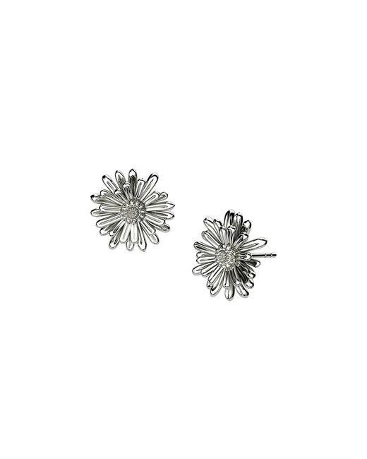 Azendi | Metallic Sterling Silver Michaelmas Daisy Earrings | Lyst
