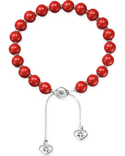 Gucci | Metallic Boule Britt San Valentino Bead Bracelet | Lyst