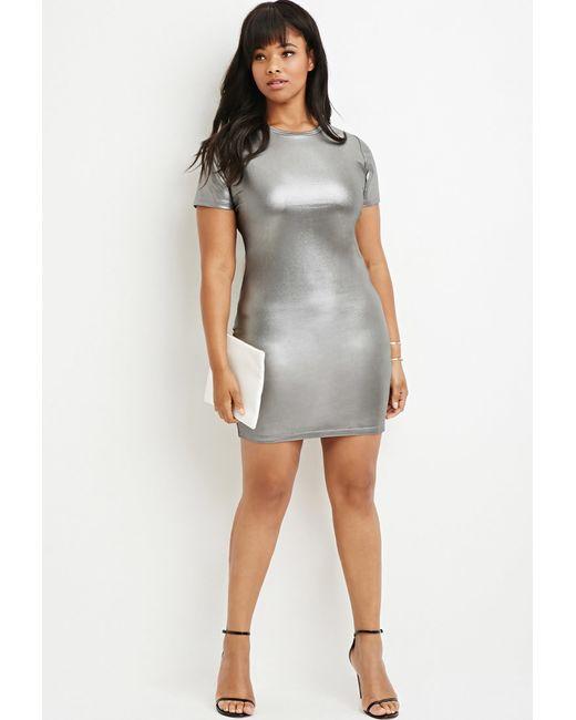 Forever 21 | Plus Size Metallic Sheath Dress | Lyst