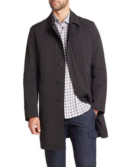 Saks Fifth Avenue | Black Removable Liner Trench Coat for Men | Lyst