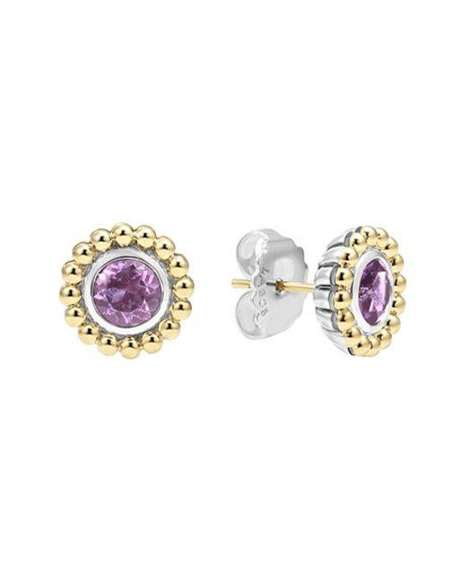Lagos | Purple Stone Stud Earrings | Lyst