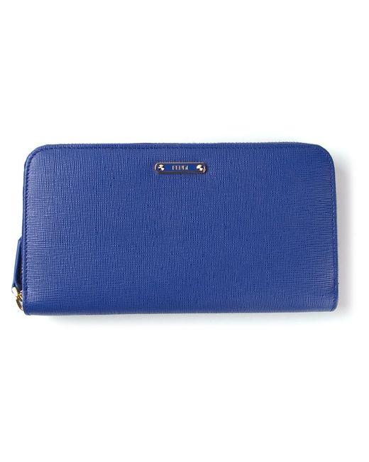 Fendi   Blue 'Crayons' Zip-Around Wallet   Lyst