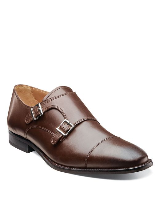 Florsheim | Brown Sabato Leather Monk-strap Loafers for Men | Lyst