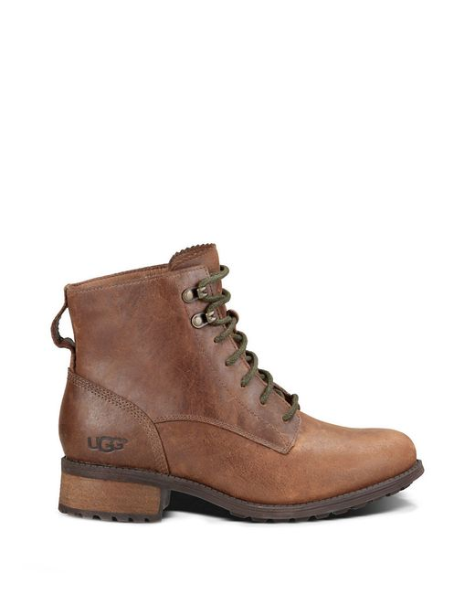 ugg denhali leather lace up boots in brown save 32