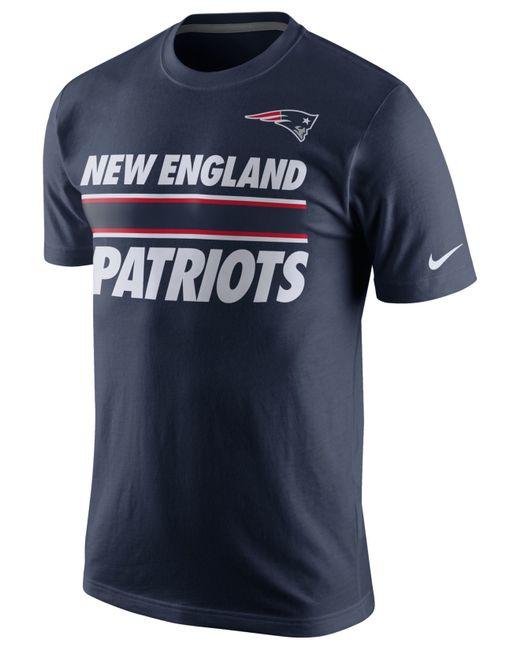 Nike men 39 s new england patriots team stripe t shirt in for New england patriots mens shirts