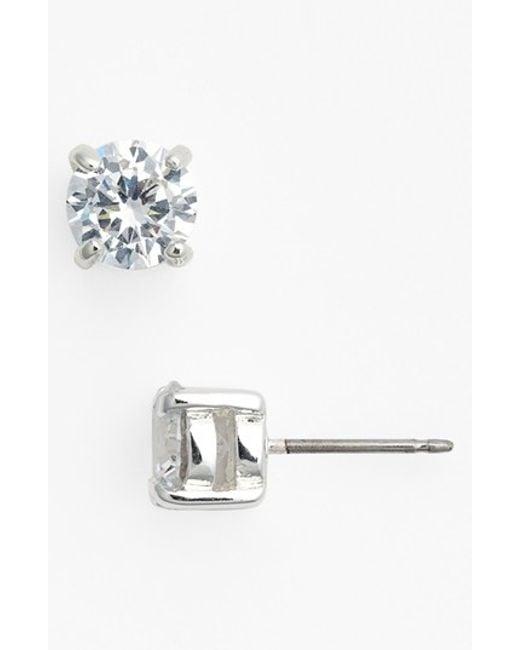 Lauren by Ralph Lauren | Metallic 1.80ct Tw Cubic Zirconia Earrings | Lyst