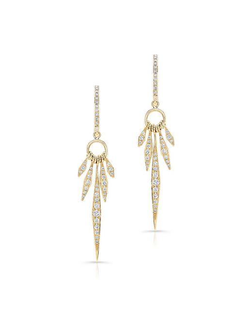 Anne Sisteron | 14kt Yellow Gold Diamond Dream Catcher Earrings | Lyst