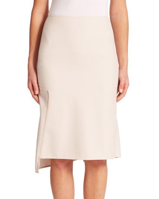 3.1 Phillip Lim | Natural Broken Line Wool Skirt | Lyst