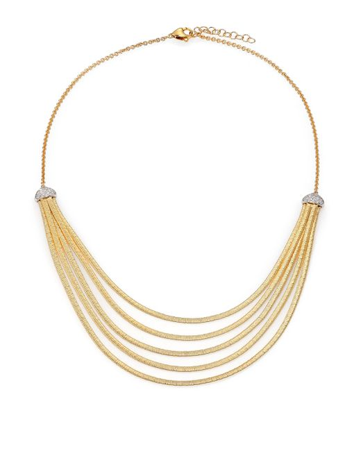 Marco Bicego   Metallic Cairo Diamond & 18k Yellow Gold Five-row Bib Necklace   Lyst