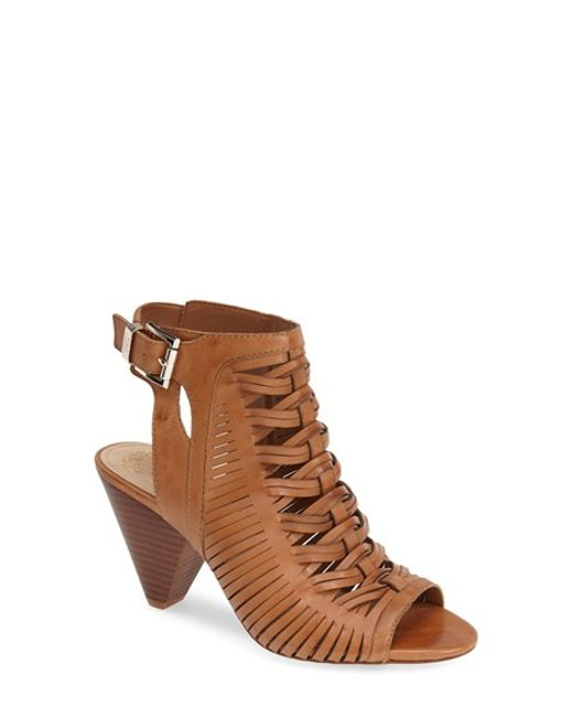 Vince Camuto | Brown 'emore' Leather Sandal | Lyst