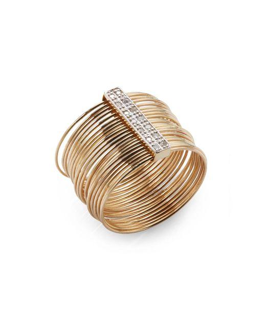Kacey K | Metallic Diamond & 14k Gold Wire Ring | Lyst