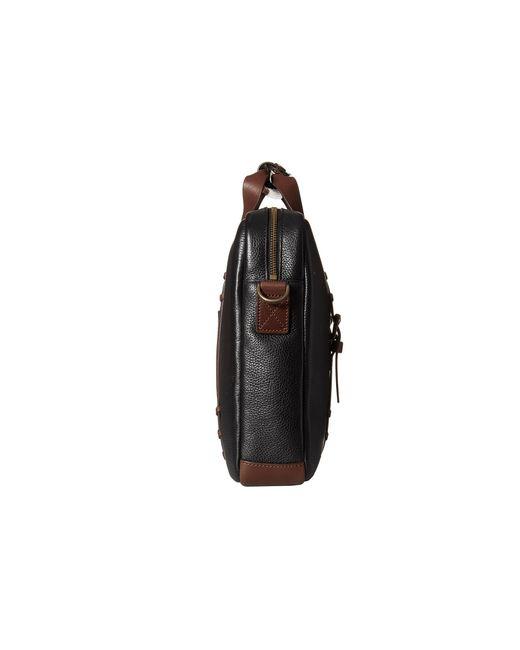 Johnston & Murphy   Black Zip Top Briefcase for Men   Lyst