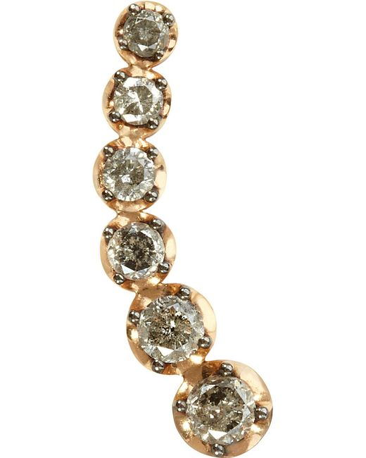 Annoushka | Metallic Dusty Diamonds 18ct Rose-gold And Diamond Right Ear Pin | Lyst