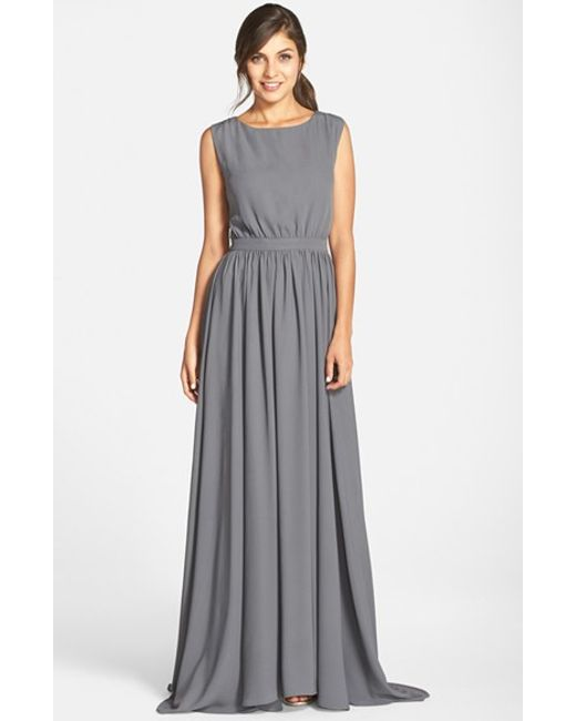 Paper Crown | Gray By Lauren Conrad 'tori' Crepe Gown | Lyst