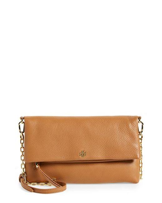 Tory Burch | Brown Foldover Crossbody Bag | Lyst