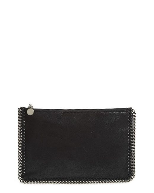 Stella McCartney | Black 'Falabella' Pouch With Convertible Strap | Lyst