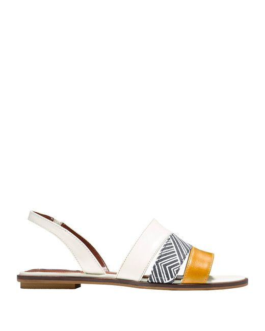 Cole Haan Anisa Leather Slide Sandals In White Lyst