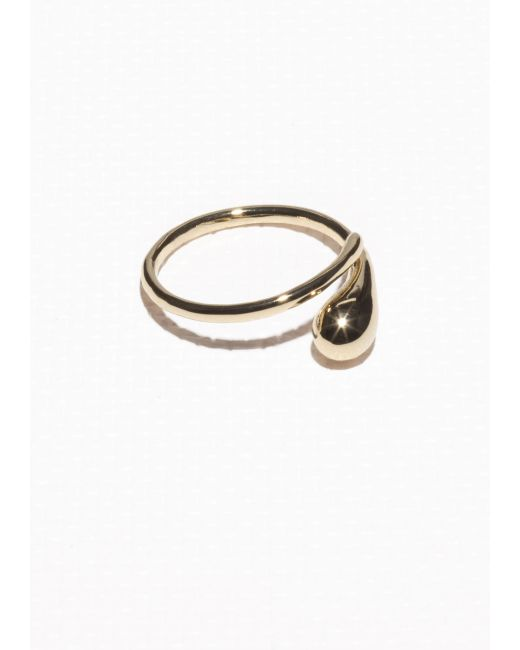 & Other Stories | Metallic Droplet Ring | Lyst