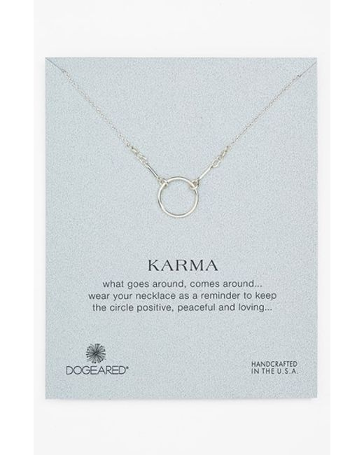 Dogeared | Metallic 'reminder - Karma' Pendant Necklace | Lyst