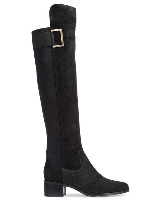 calvin klein cylan wide calf boots in black black