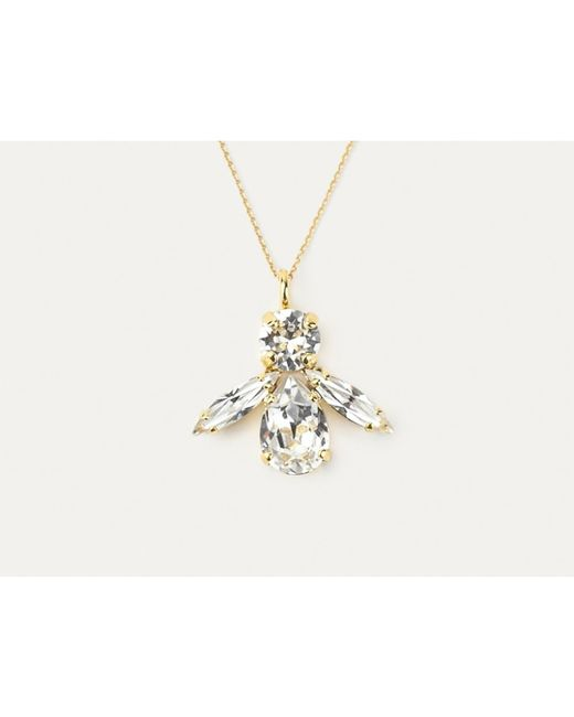 Sabrina Dehoff | Metallic Crystal Bee Necklace | Lyst