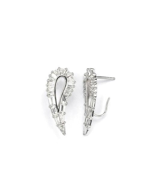 V Jewellery | Metallic Simplicity Hollow Lobe Earrings | Lyst