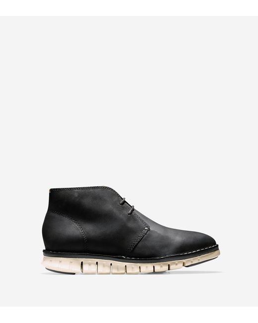 Cole Haan   Black Zerøgrand Stitch Out Chukka for Men   Lyst