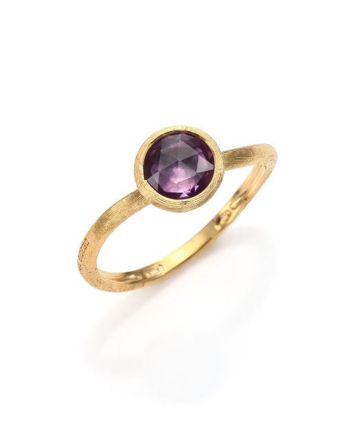 Marco Bicego | Purple Jaipur Amethyst & 18k Yellow Gold Ring | Lyst