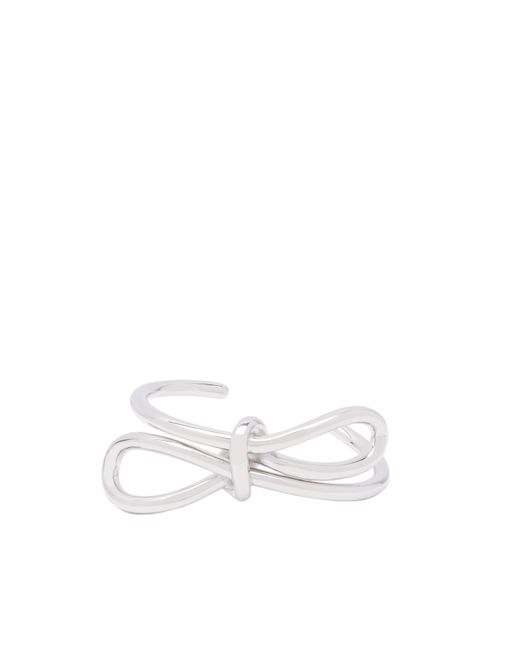 Balenciaga | Metallic Silver Boucle Bow Bracelet | Lyst